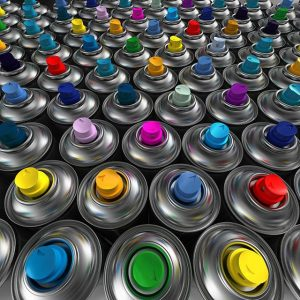 Краска по металлу в баллончиках