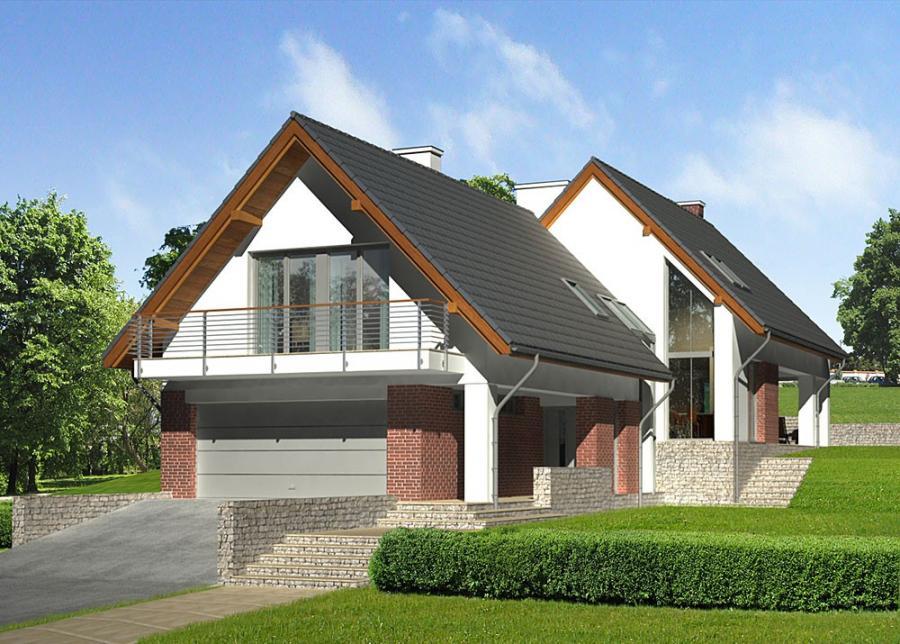 Лучшие проекты домов с мансардой