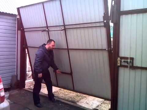 Ворота для гаража своими руками