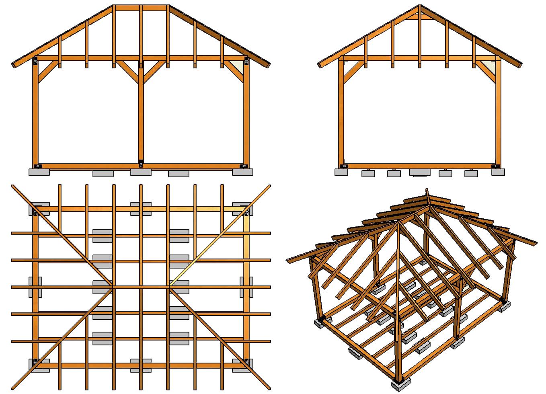 Крыша четырехскатная своими руками фото