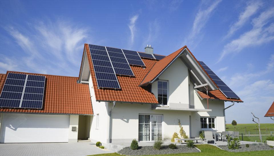 Дома с солнечными батареями