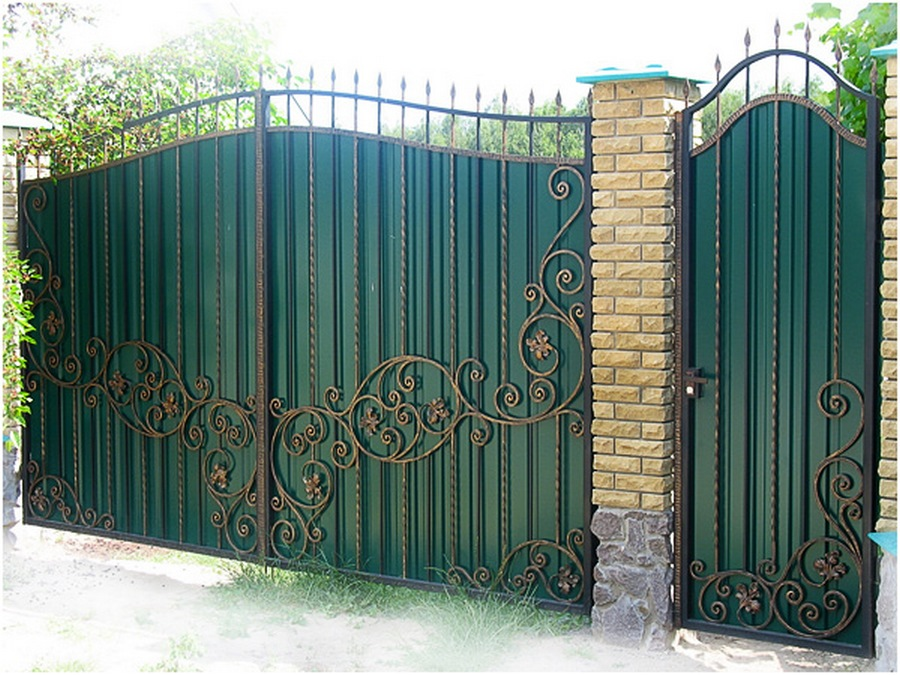 ворота из металлопрофиля своими руками