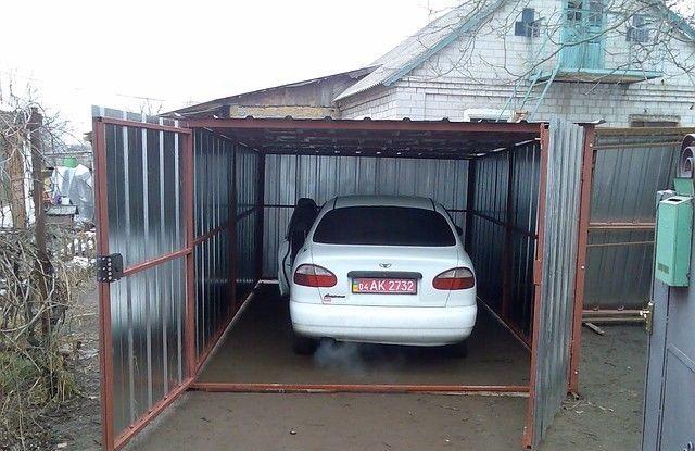 Сварить гараж из металлопрофиля