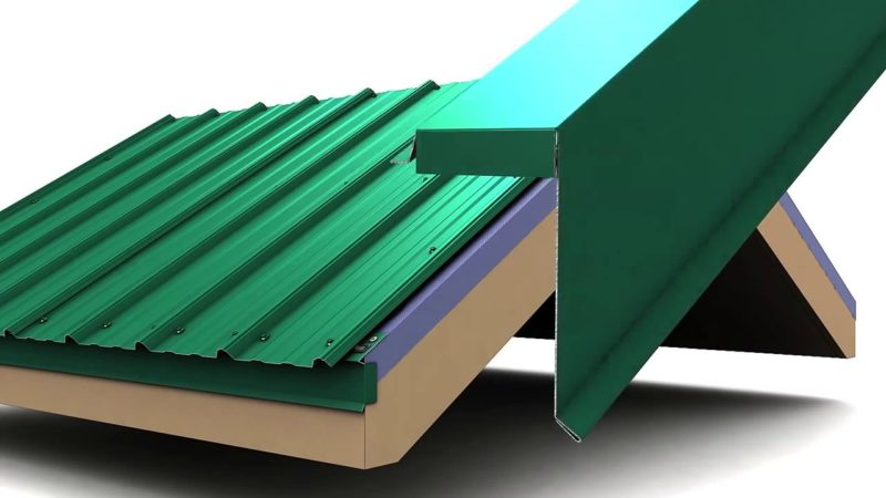 Как крепить профнастил на крыше?