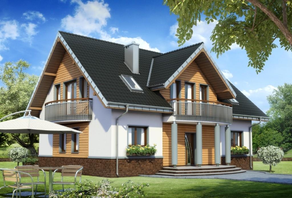 Проекты домов с мансардой и балконом